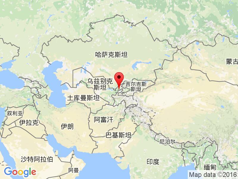 乌兹别克斯坦阿尔马雷克Olmaliq 时区 年夏令时开始结束时间 - Olmaliq map